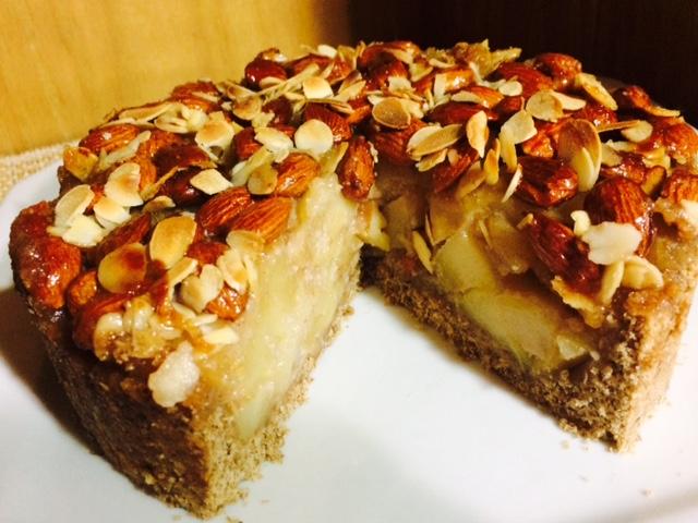 torta de maça e amendoas